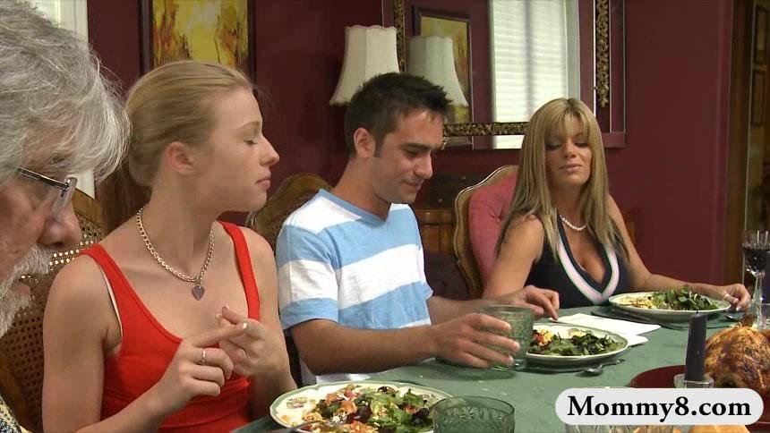 Handjob dinner table