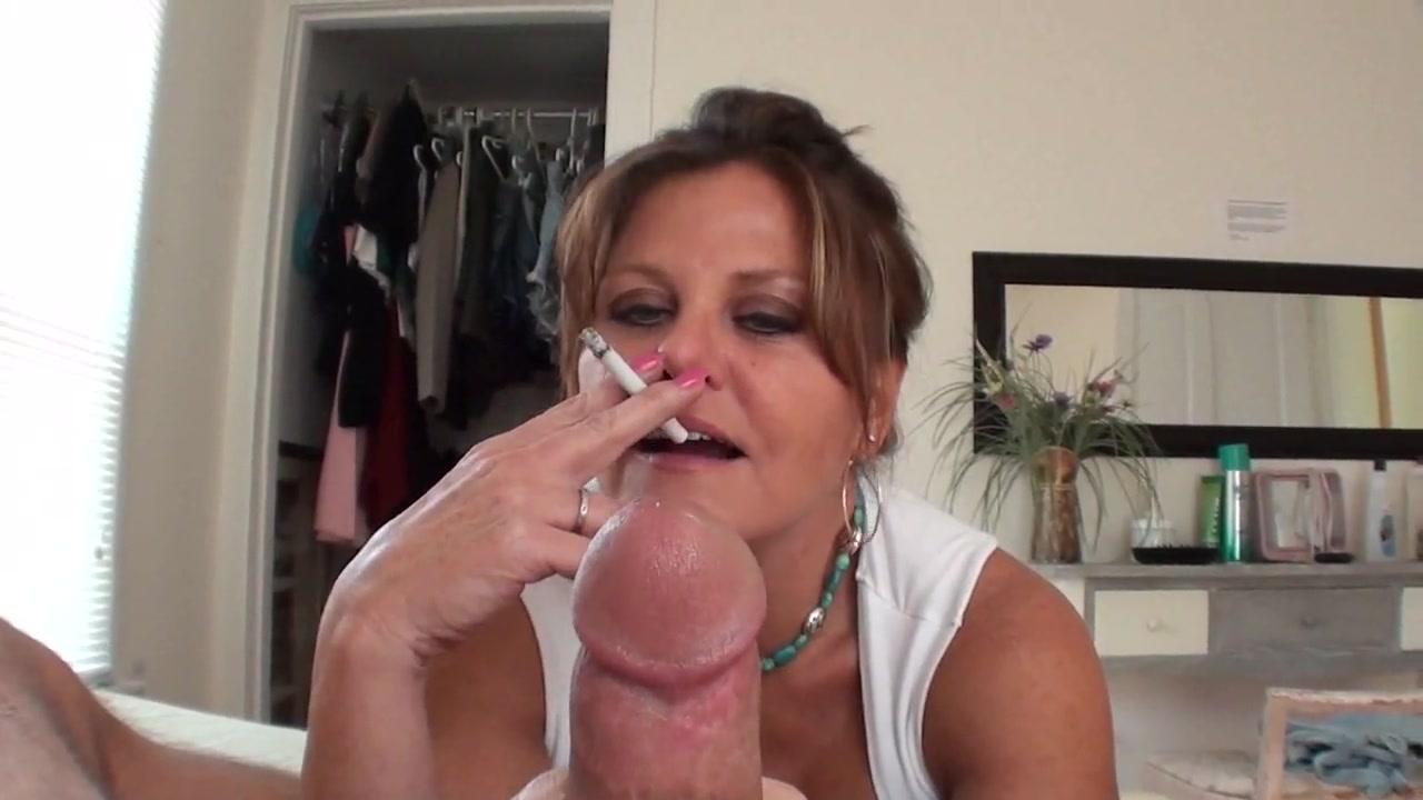 sexy smoking handjob